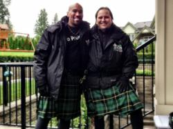 Sentwali Lewis and Darcy Longpre - Toronto Men In Kilts